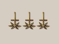 Blk cross pin6
