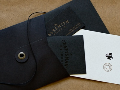 Blksmith Leave Behind 2 smith design blksmith handmade leave behind promotion handout