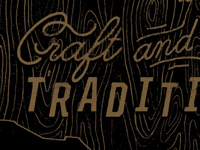 Craft & Tradition blksmith smith type lettering texture illustration woodgrain handmade