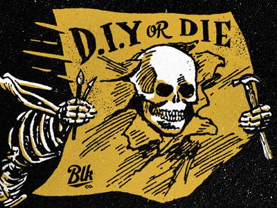 D.I.Y or Die blksmith texture diy die psa
