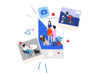 instagram picture dog vector illuatration socialmedia instagaram