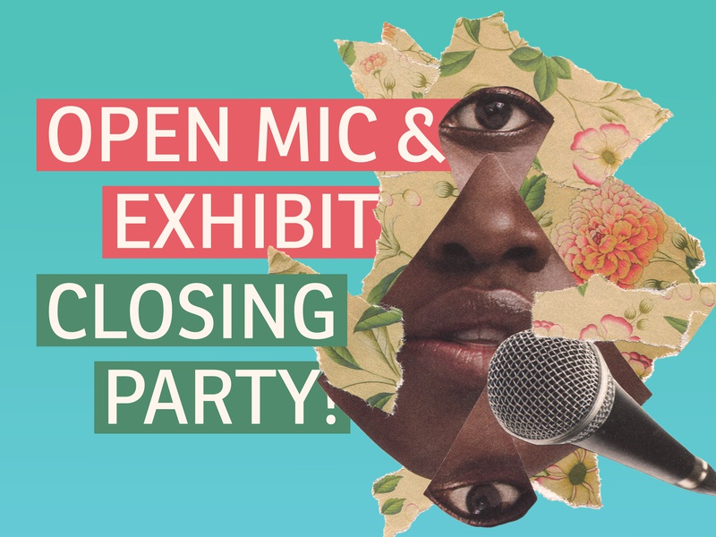 BLM Open Mic color typogaphy hand crafted collage
