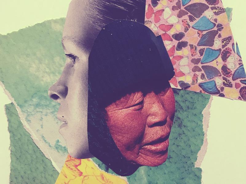 No es lo mismo paper women hand crafted handmade graphic design collage
