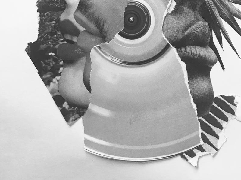 Brujeria black and white handmade graphic design design humans collage