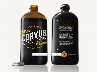 Corvus Hopped Coffee | Packaging corvus coffee packaging hopped denver colorado sean herman