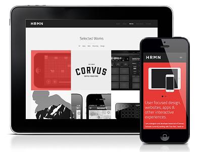 HRMN - Design + Development website responsive interface web online hrmn sean herman denver colorado developer designer