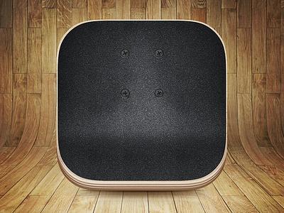 Skateboard App Icon - Freshly Gripped skateboard icon app ios7 anamorphic grip tape deck skate board