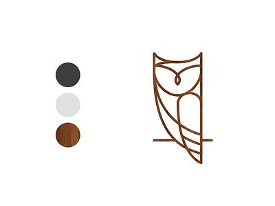 Little Owl Identity mark logo identity line owl coffee