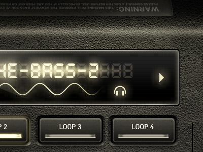 Dubstep Machine - UI user interface ipad app iphone app mobile design pixels ui