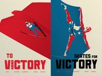 To Victory Winter Olympics Poster Series