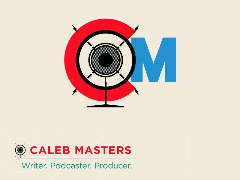 CM Logo microphone propaganda retro minimalist illustration podcasts logo