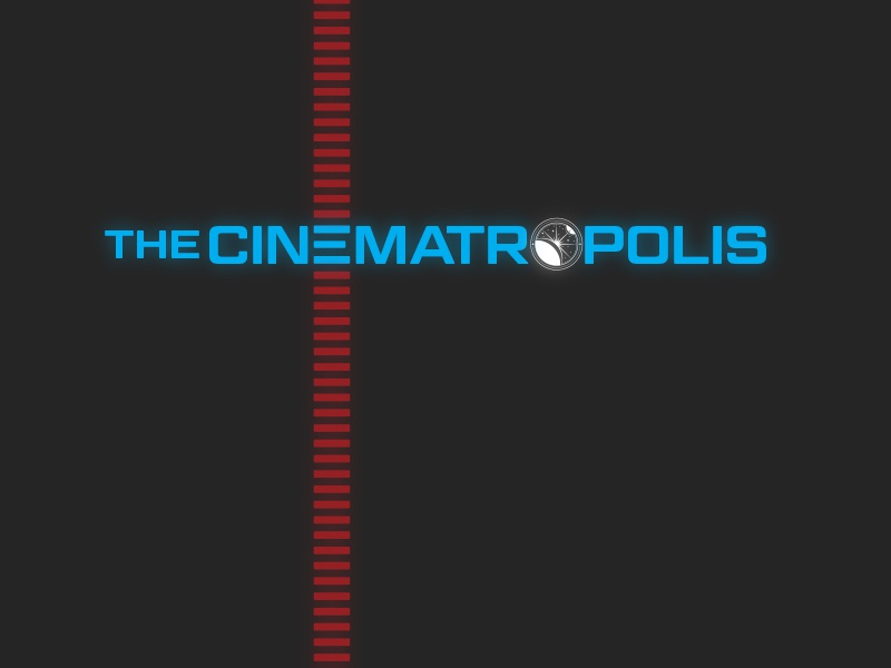 the Cinematropolis dot com Logo sci-fi science fiction scifi movies filmmaking film minimalist retro illustration logo
