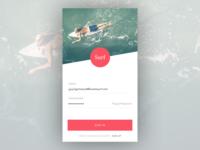 Surf App - Login Concept