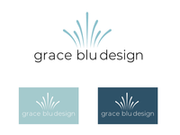 Logo process for Grace Blu Interior Design