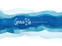 Final logo for Grace Blu Interior Design