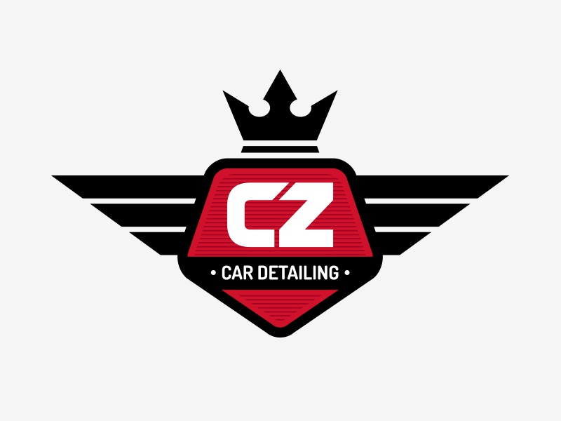 CZ Car Detailing | Logo Proposal vector shield crown badge logotype