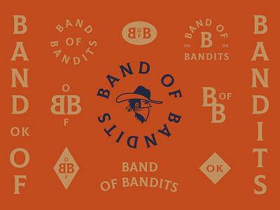 Band of Bandits brand weed vintage bandit oklahoma cannabis graphic design design badge typography logotype branding illustration logo