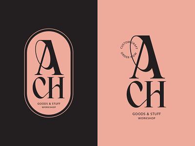 Ach Workshop type font elegant craft workshop ligature graphic design typography badge design branding logotype logo