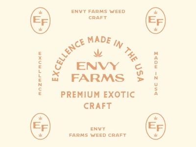 Envy Farms icon badge lettering weed cannabis craft vintage typography type logo brand logotype branding graphic design design