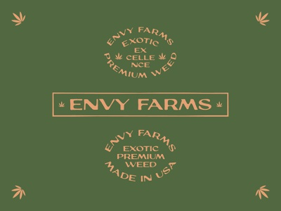 Envy Farms Badges weed cannabis badge vintage lettering typography type logo brand logotype branding graphic design design