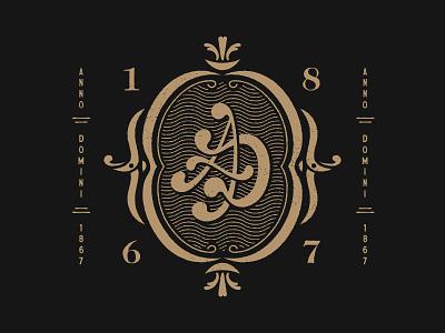 Anno Domini Outtake mark lettering icon vintage badge illustration typography logo branding brand graphic design design