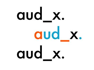 aud_x. branding platform audience tech logotype branding logo