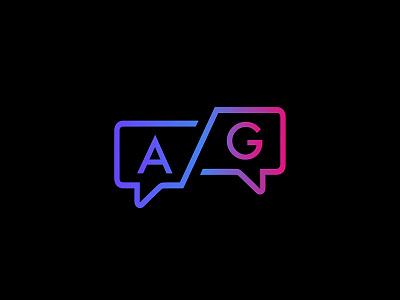 Ask a Girl ui brand graphic design tech logo design chat icon app girl branding