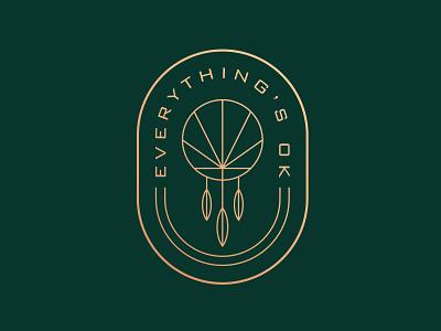 Everything's OK Final dreamcatcher icon graphic design cannabis geometry illustration logo logotype badge design weed oklahoma dispensary branding brand