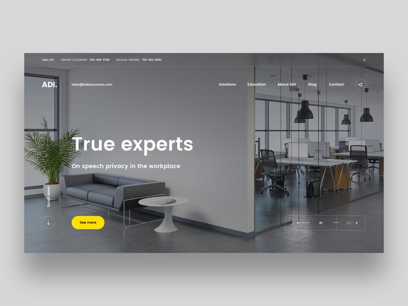 ADI acoustics ux office web  design corporate sound