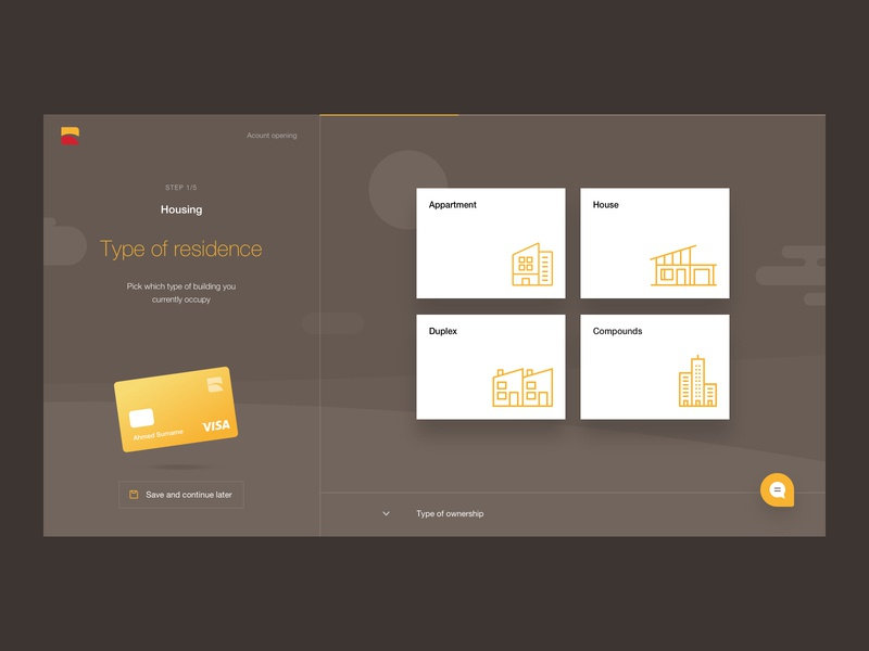 Bank onboarding bank account bank card form onboarding finance banking bank