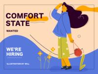 hiring animation web app vector branding design flat ui  ux design typography illustration