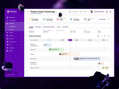 Softnauts Operating System (SOS) ReDesign web app productivity project management project dashboard management task desktop ui design ux