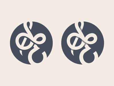 Custom Thirsty thirsty script type logo monogram
