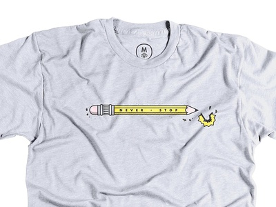 Never Stop - Cotton Bureau pencil shirt cotton bureau