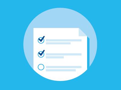 Checklist icon lowes checklist blue paper
