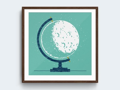 New Frames art print screen print glowbe etsy wood shadow blue teal