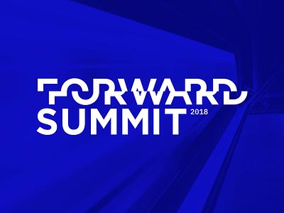 Forward Summit 2018 event summit forward branding blue logo transportation conference