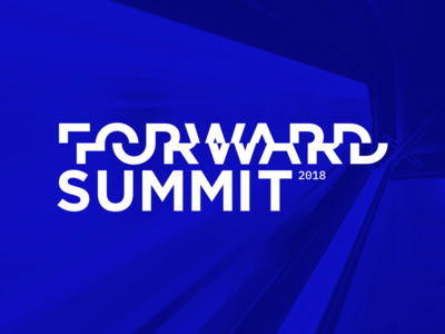 Forward Summit 2018 event summit forward branding blue logo transportation conference