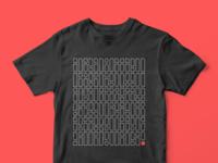 2019 Principles Code Shirt symbols decode glyph code passport brand font grid pamplemousse black shirt