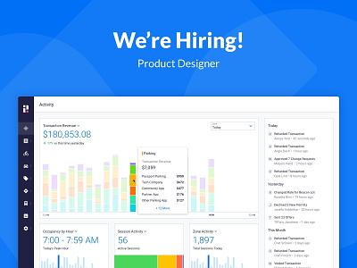 Join the Passport Team! ui design passport graphs charts blue job listing hiring dashboard product design ux ui