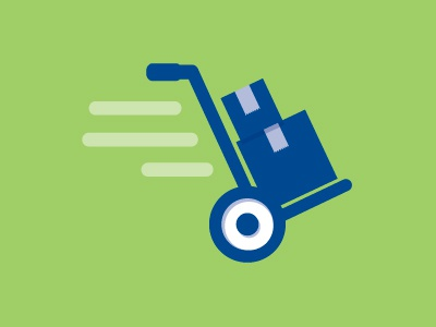 Runaway Hand Truck icon hand truck dolly
