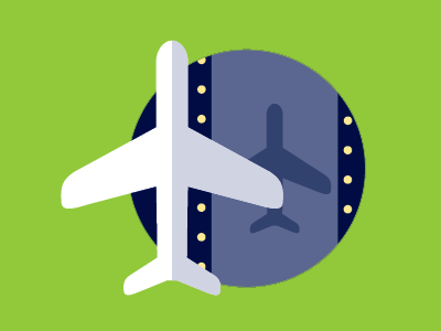 Runway lighting airplane icon green runway landscape