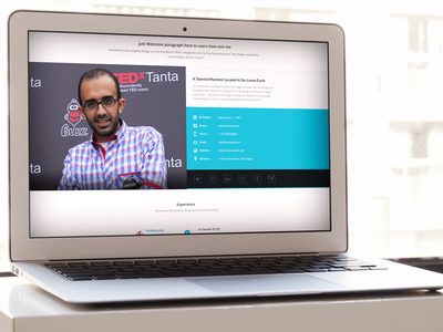 Ahmed Adel - Small Preview white mockup personal ui marketer