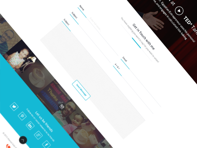 Ahmed Adel , Contact Form  ui ux contact form white instagram social
