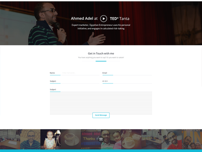 Ahmed Adel  ui ux contact form white instagram social