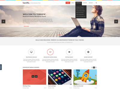 Terrific white ui design ux web design design ui wordpress