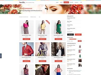 Terrific Shop white ui design ux web design design ui wordpress
