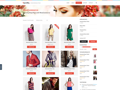 Terrific Shop white ui design ux web design design ui wordpress