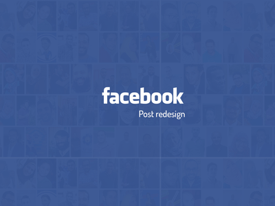 Facebook Post re-design ui design design facebook post facebook redesign re-design ux ui