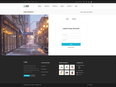 Bo - Login Pages! panel singup form login portfolio ui sale web design design themes wordpress